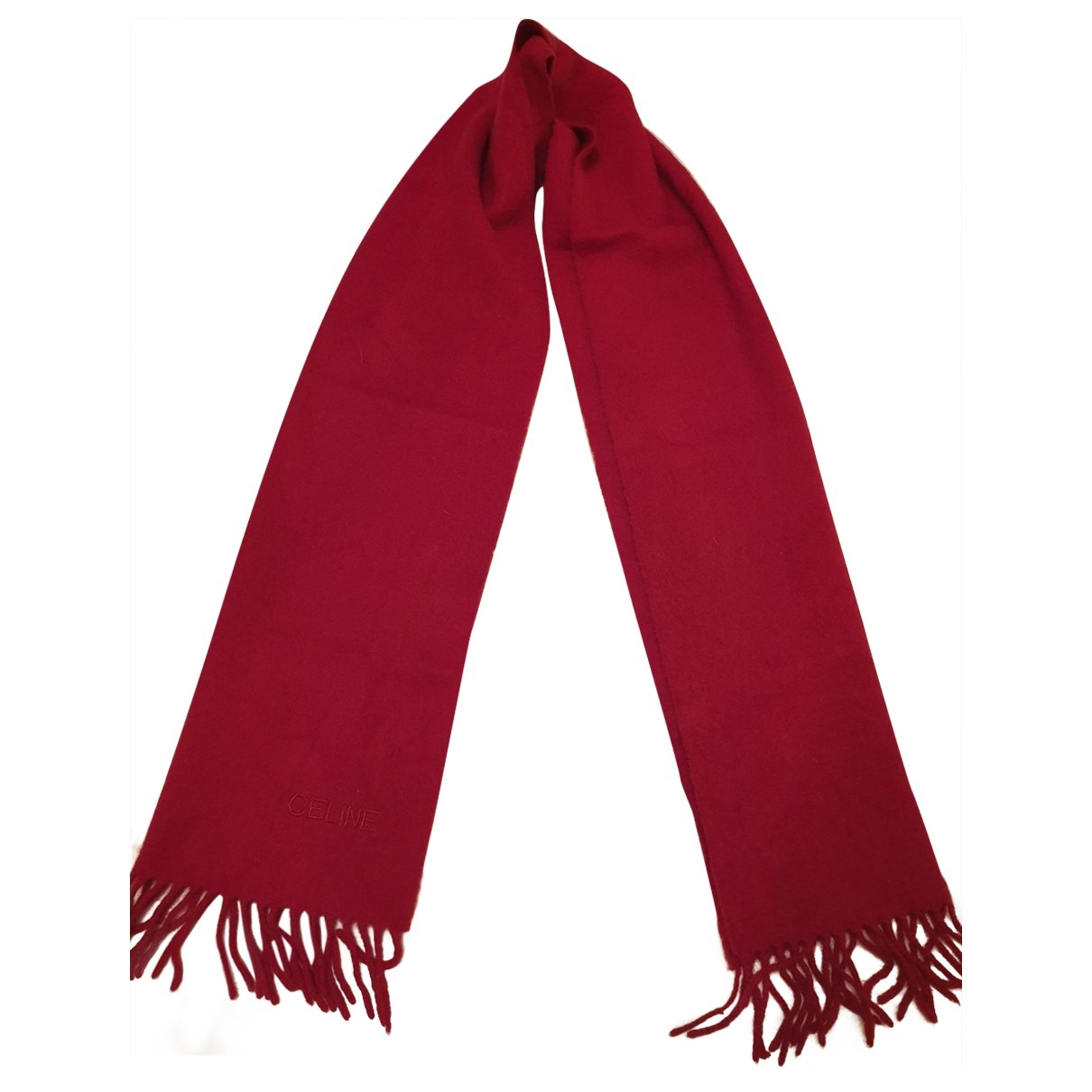 Celine \N Red Cashmere scarf for Women \N