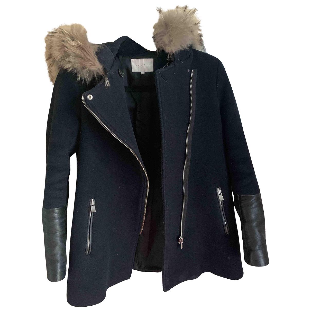 Sandro \N Blue Wool coat for Women 36 FR