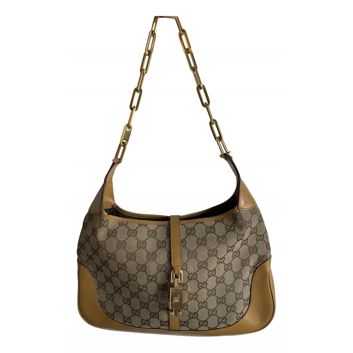 Gucci Jackie Vintage  Beige Cloth handbag for Women \N