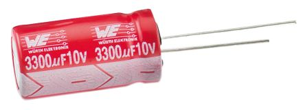 Wurth Elektronik 100μF Electrolytic Capacitor 25V dc, Through Hole - 860020473008 (25)
