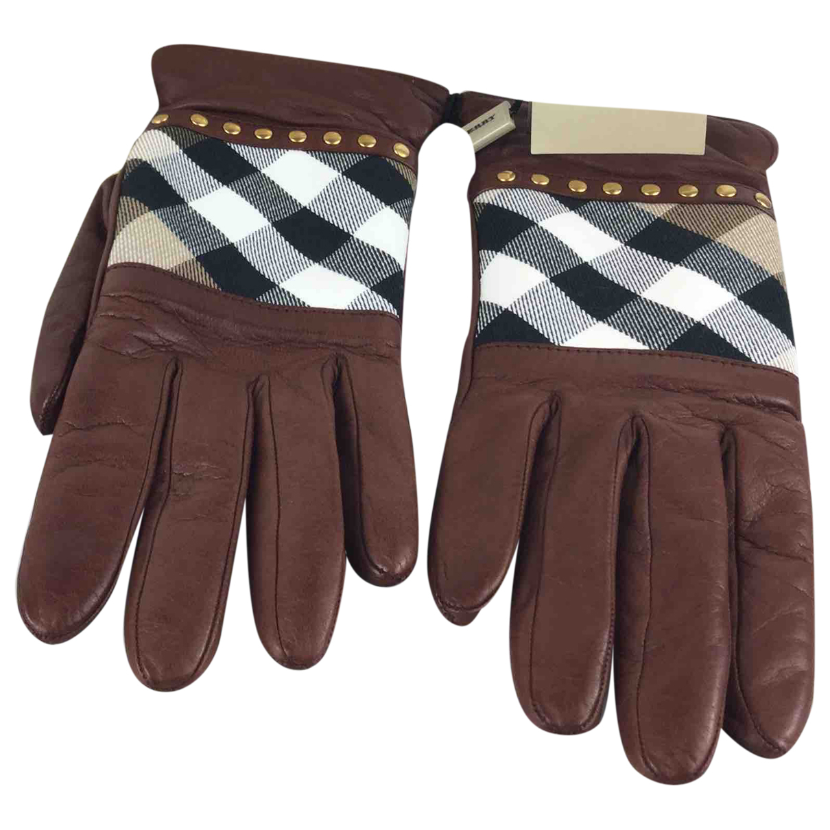 Burberry \N Brown Leather Gloves for Women 7.5 Inches
