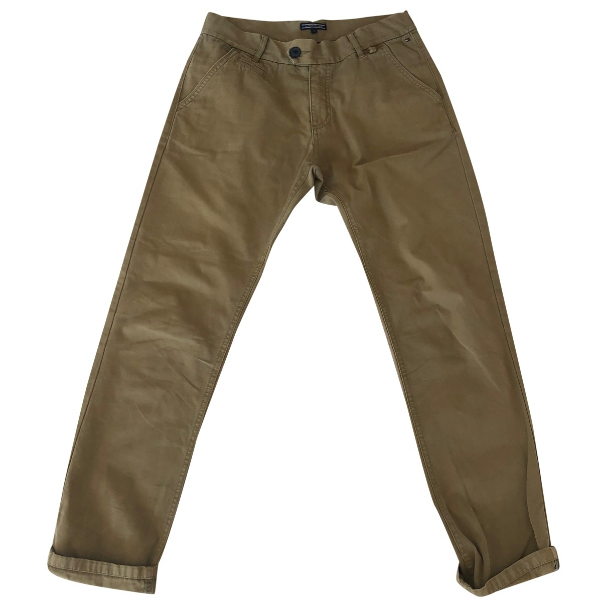 Tommy Hilfiger \N Khaki Cotton Trousers for Kids 16 years - M FR