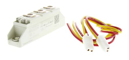Semikron , SKKT 42B12 E, Dual Thyristor Module SCR, 40A 1200V, 7-Pin Semipack1