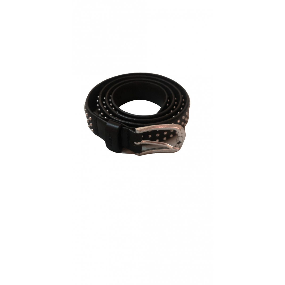 Diesel Black Gold \N Black Leather belt for Men 100 cm