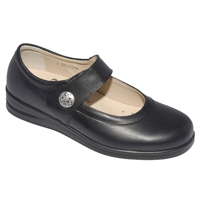 Finn Comfort Harumi Black Leather 55 Uk