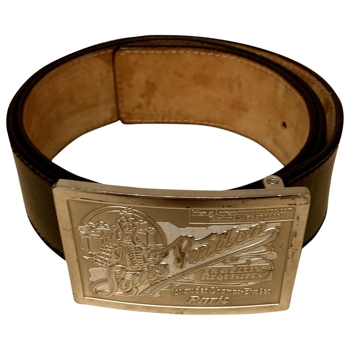 Louis Vuitton \N Black Leather belt for Men 90 cm