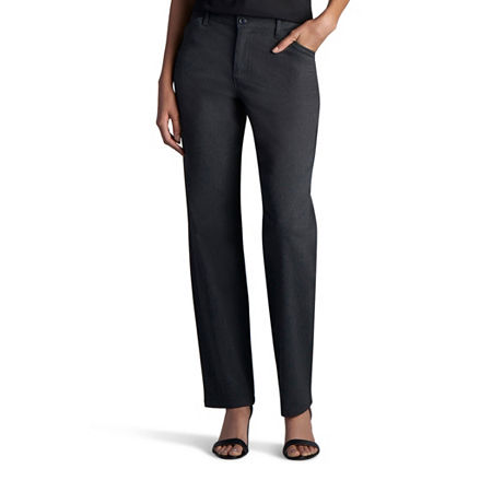 Lee Plain Front Relaxed All Day Twill Pant, 6 Petite , Black