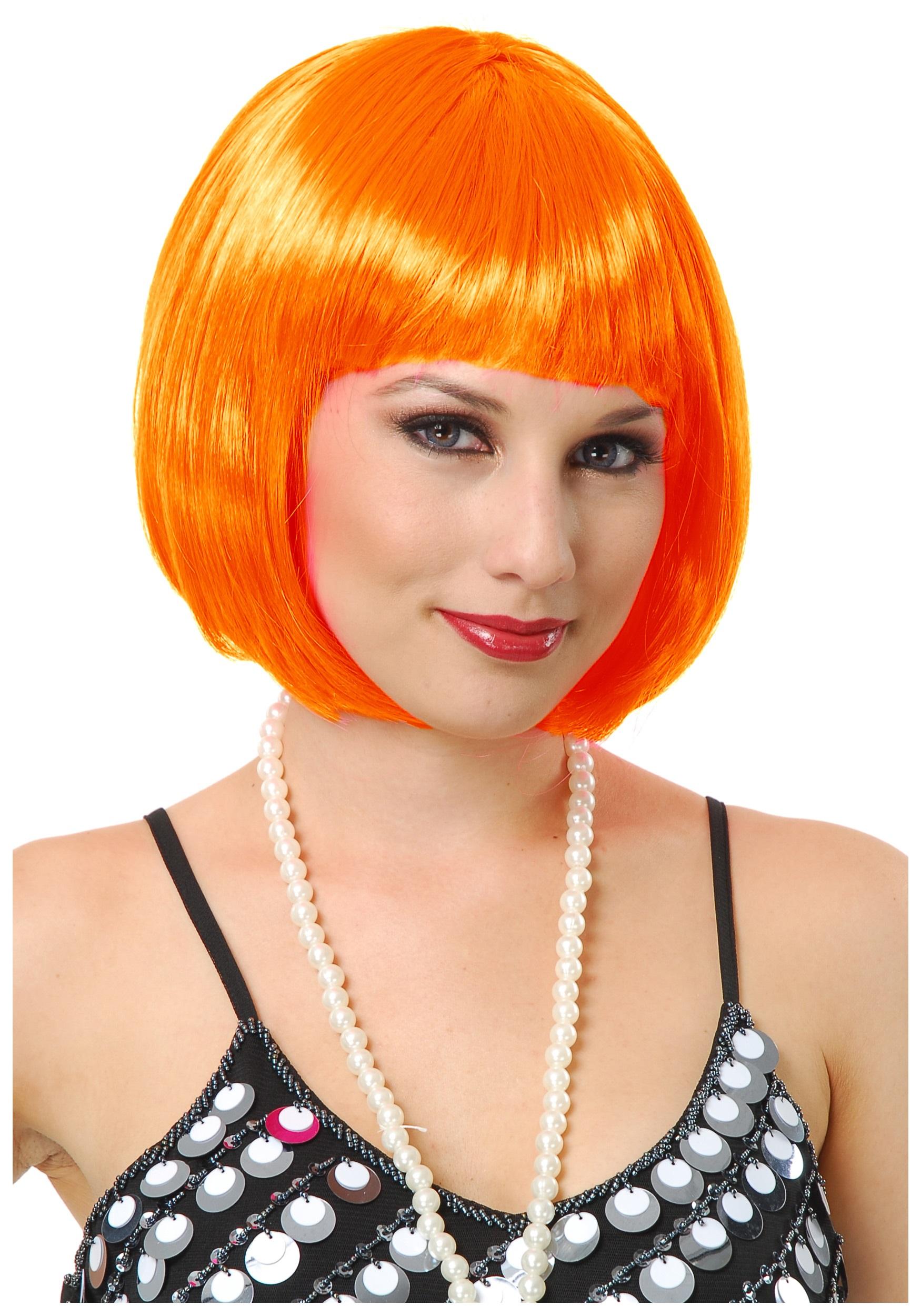 Orange Bob Wig for Women