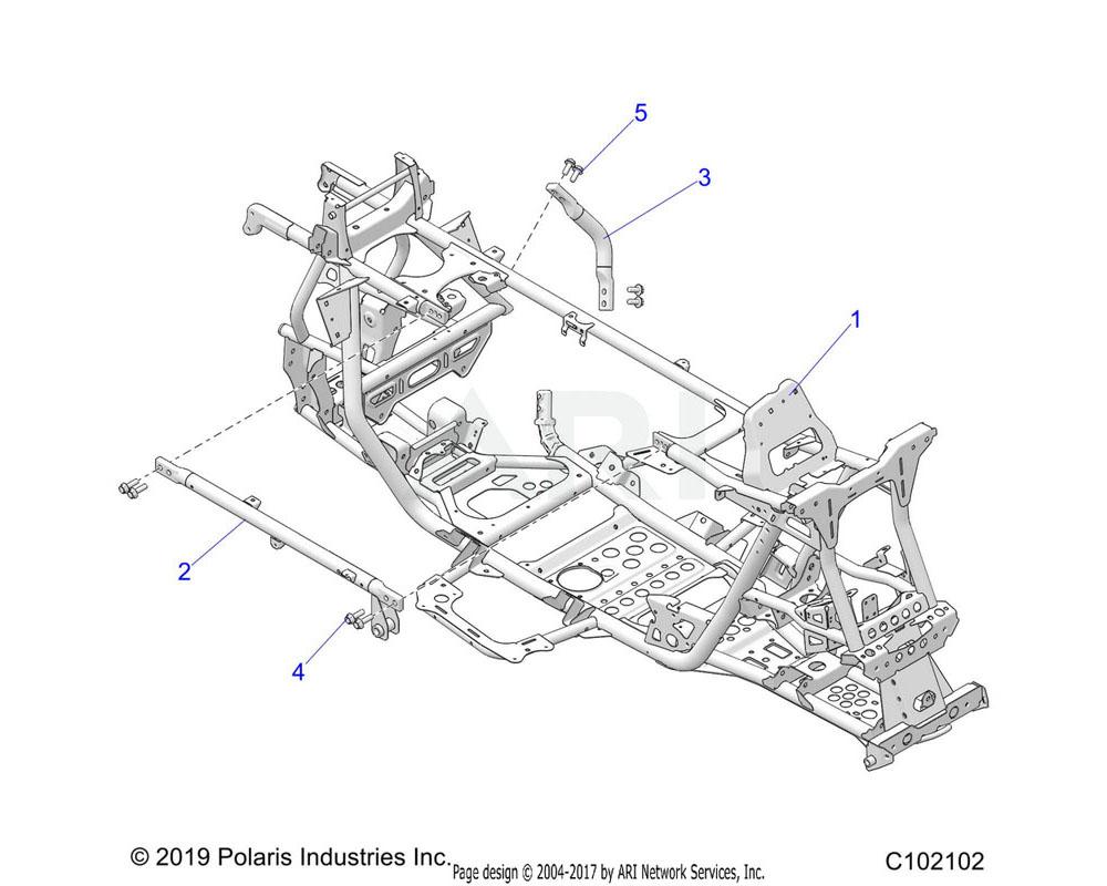 Polaris OEM 1025416 WELD-TOP FRAME JOINT