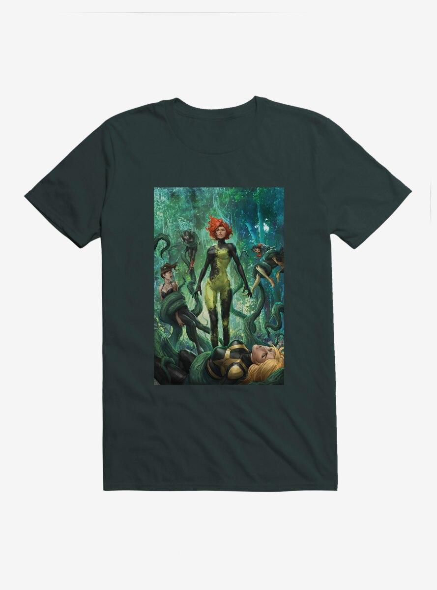 DC Comics Birds Of Prey Poison Ivy Death Grip Comic Art T-Shirt