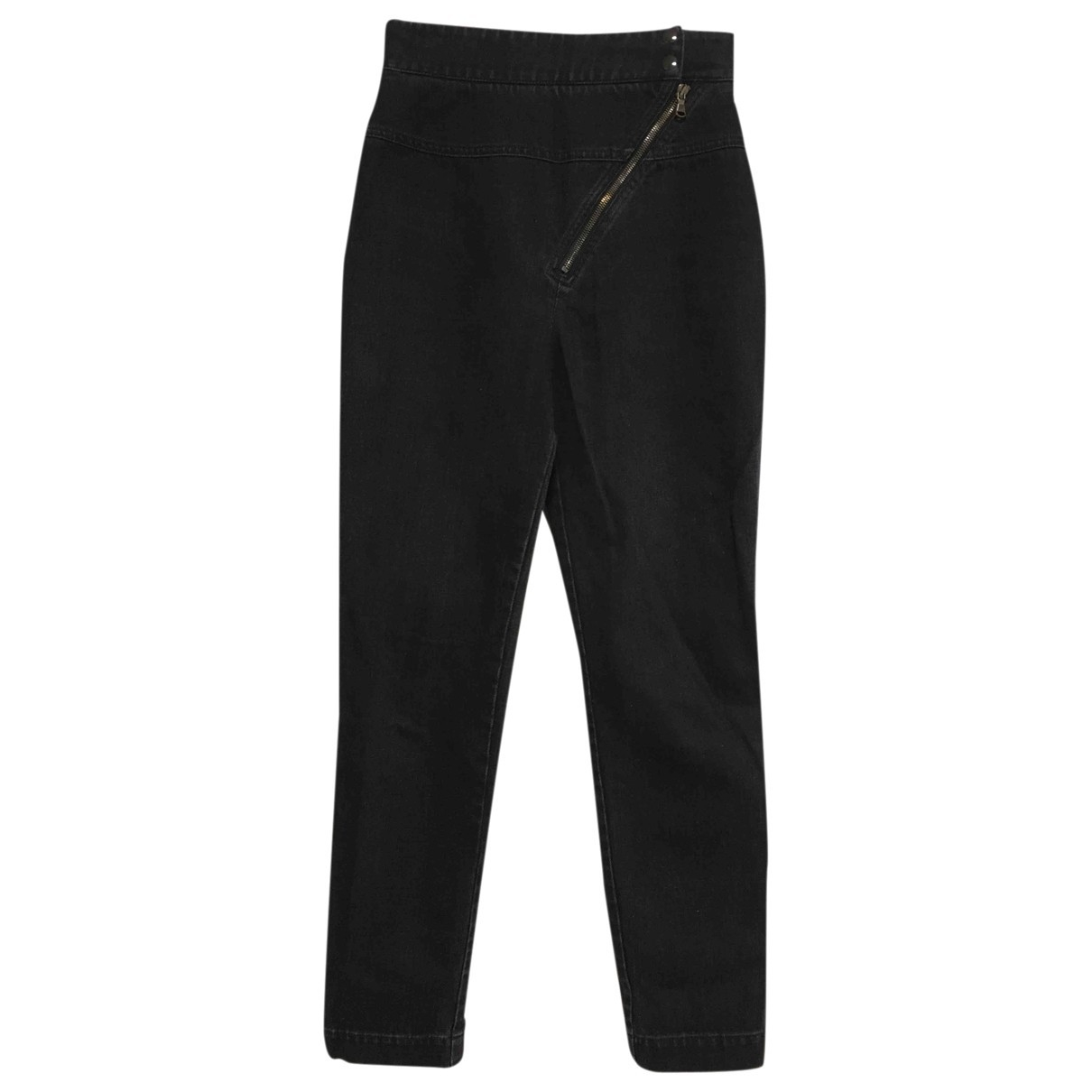 Roberto Cavalli \N Anthracite Denim - Jeans Trousers for Women 40 IT