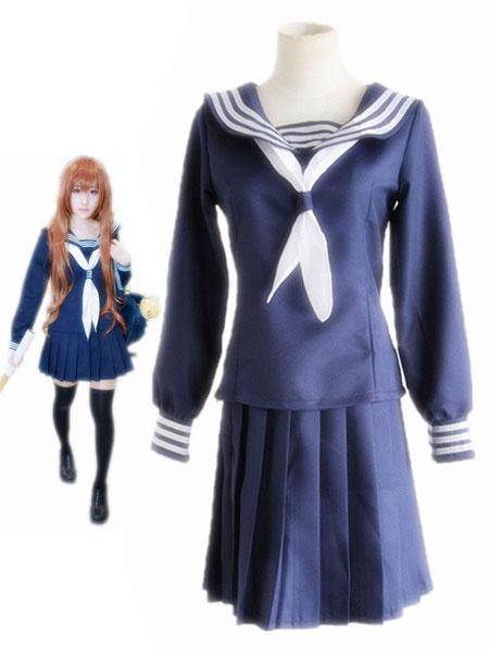 Milanoo Tiger×Dragon! Aisaka Taiga Cosplay Costume Kawaii Blue School Girl Uniform Halloween