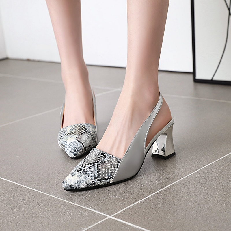 Ericdress Pointed Toe Slip-On Chunky Heel Casual Sandals