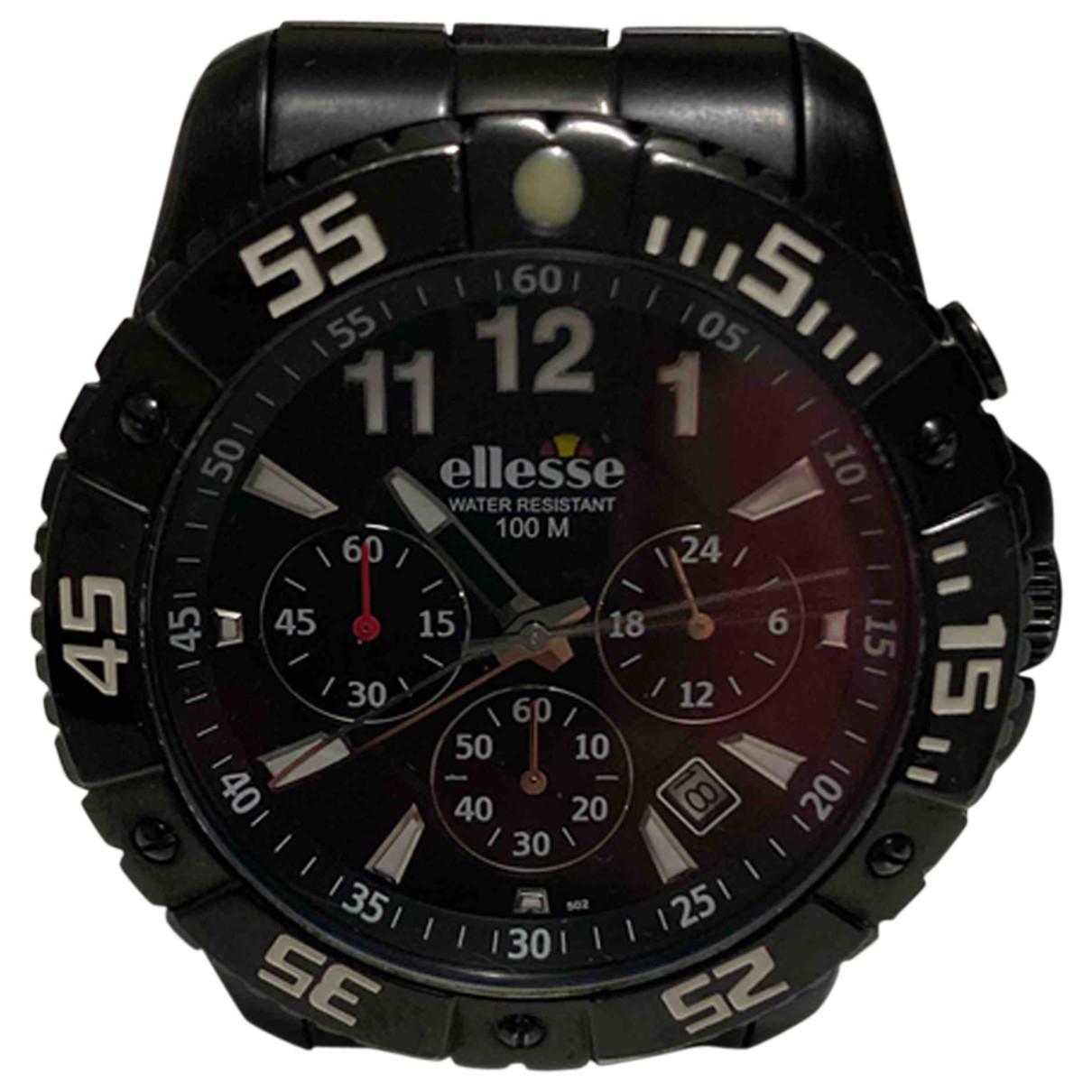 Ellesse \N Black Steel watch for Men \N