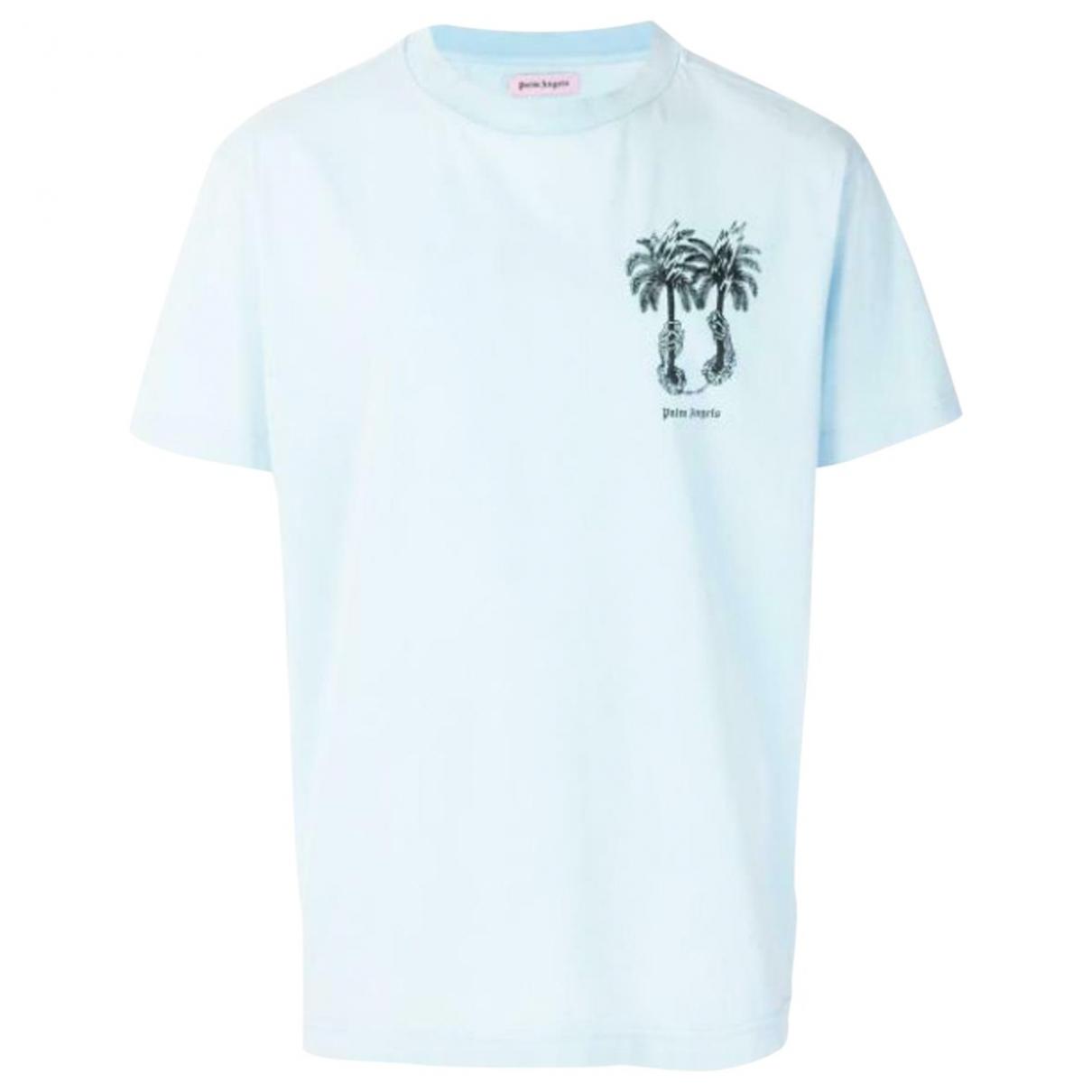 Palm Angels \N Blue Cotton  top for Women M International