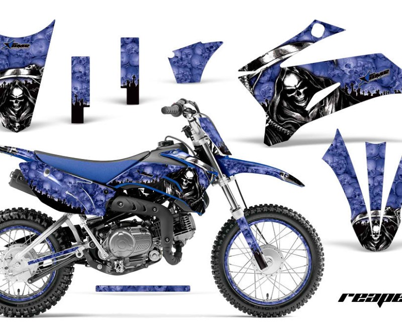 AMR Racing Graphics MX-NP-YAM-TTR110-08-18-RP U Kit Decal Sticker Wrap + # Plates For Yamaha TTR110 2008-2018áREAPER BLUE