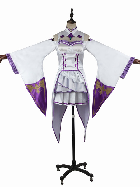 Milanoo Re Zero Starting Life In Another World Emilia Halloween Cosplay Costume Halloween