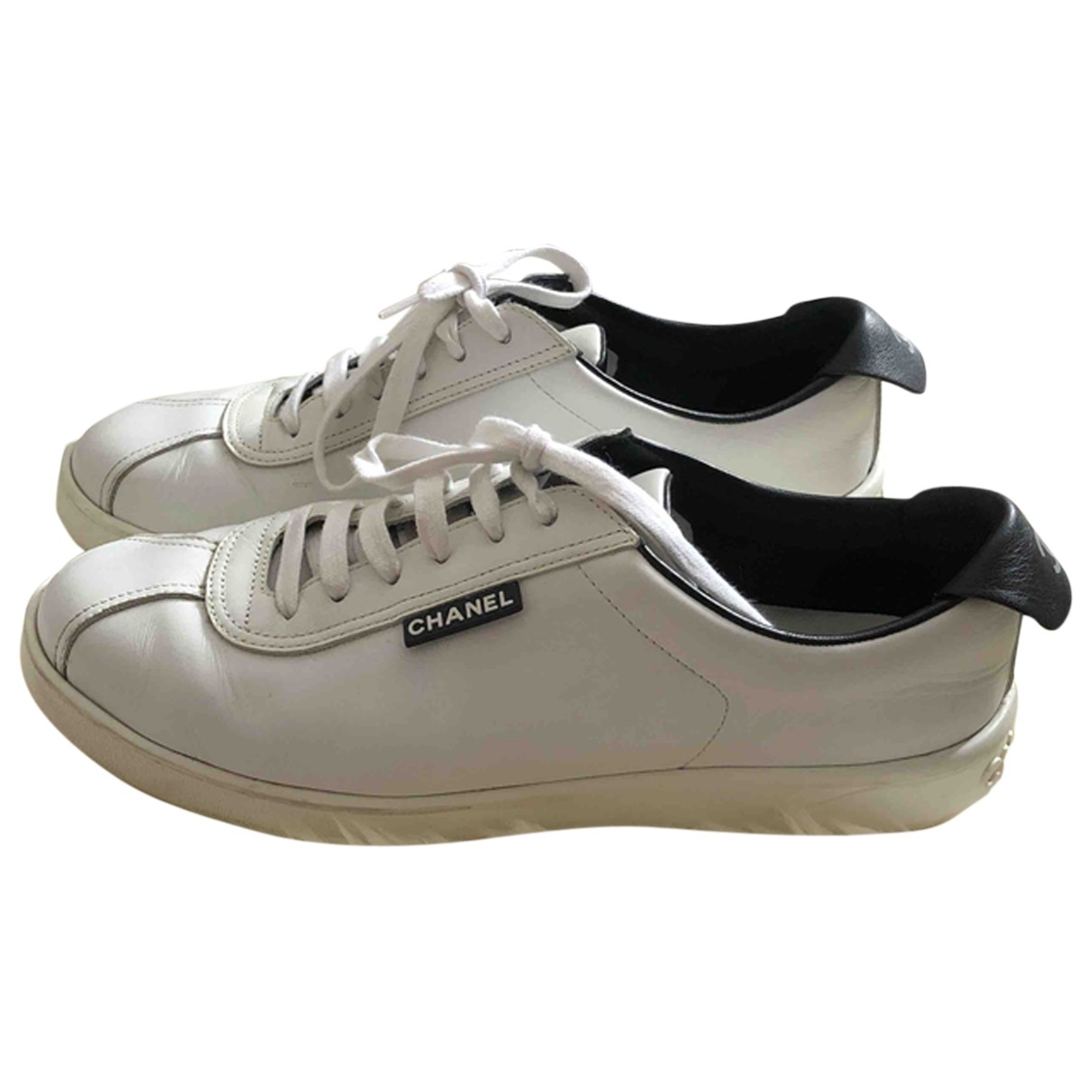 Chanel \N White Leather Trainers for Men 42 EU