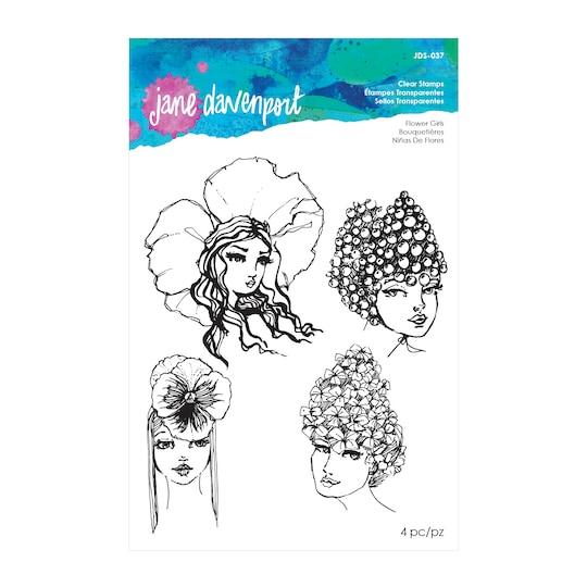 Jane Davenport Clear Stamps, Flower Girls | Michaels®