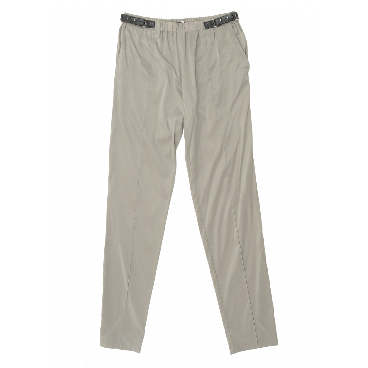 Gucci \N Beige Cloth Trousers for Women 38 IT