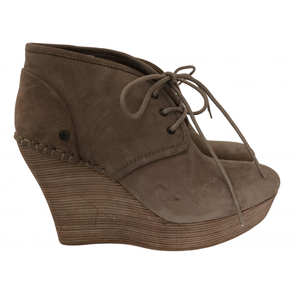 Ugg \N Camel Cloth Boots for Women 36 EU