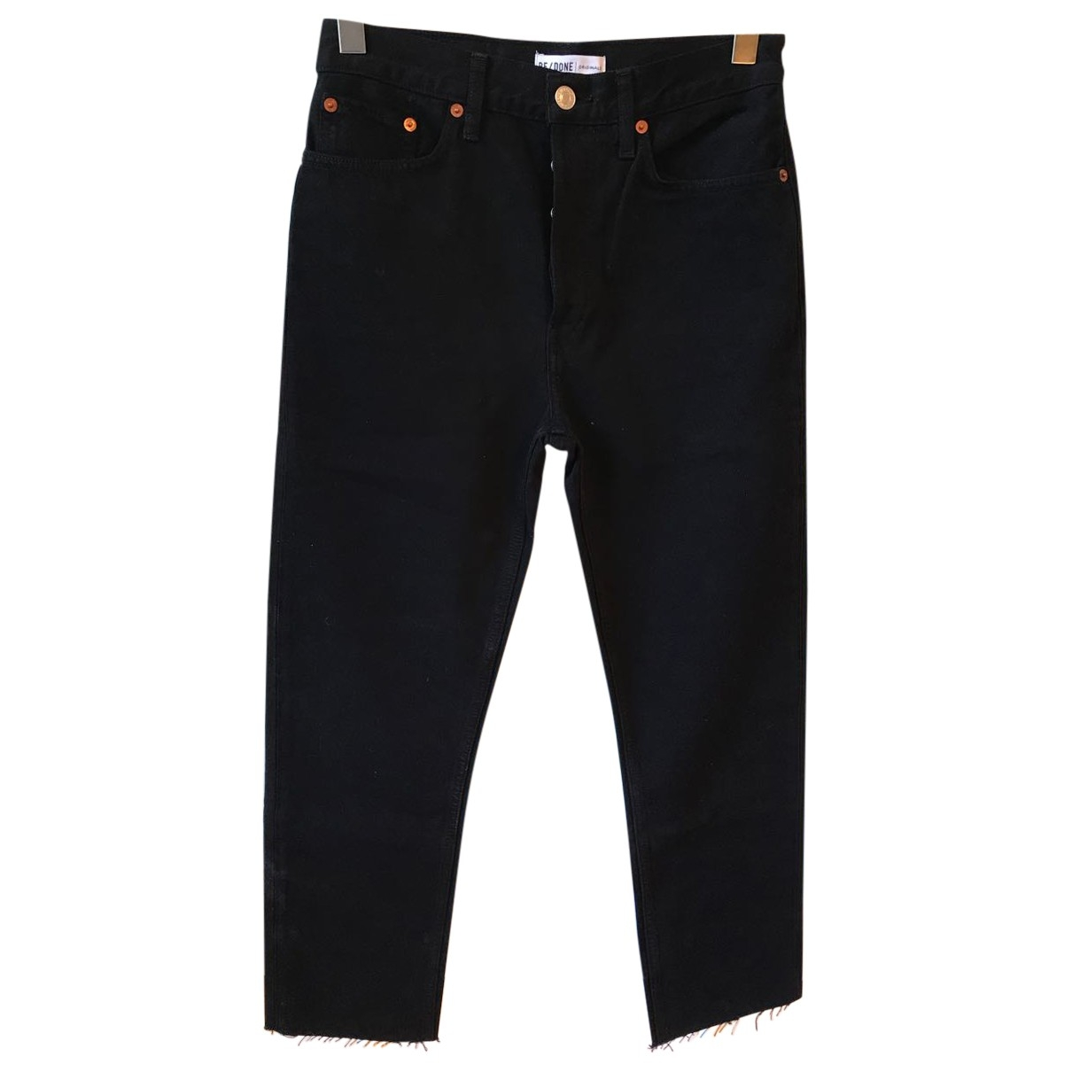 Re/done \N Black Cotton Jeans for Women 28 US