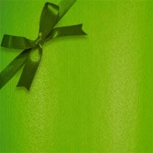 #f0011 Groove Strp Apple Green - Gift Wra - 24 X 833' - - Gift Wrapping Paper by Paper Mart
