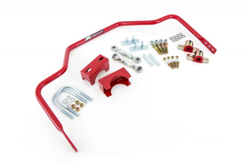 """UMI Performance 4047-300-R 1964-1972 GM A-Body 1"""" Tubular Rear Sway Bar, Chassis Mounted"""