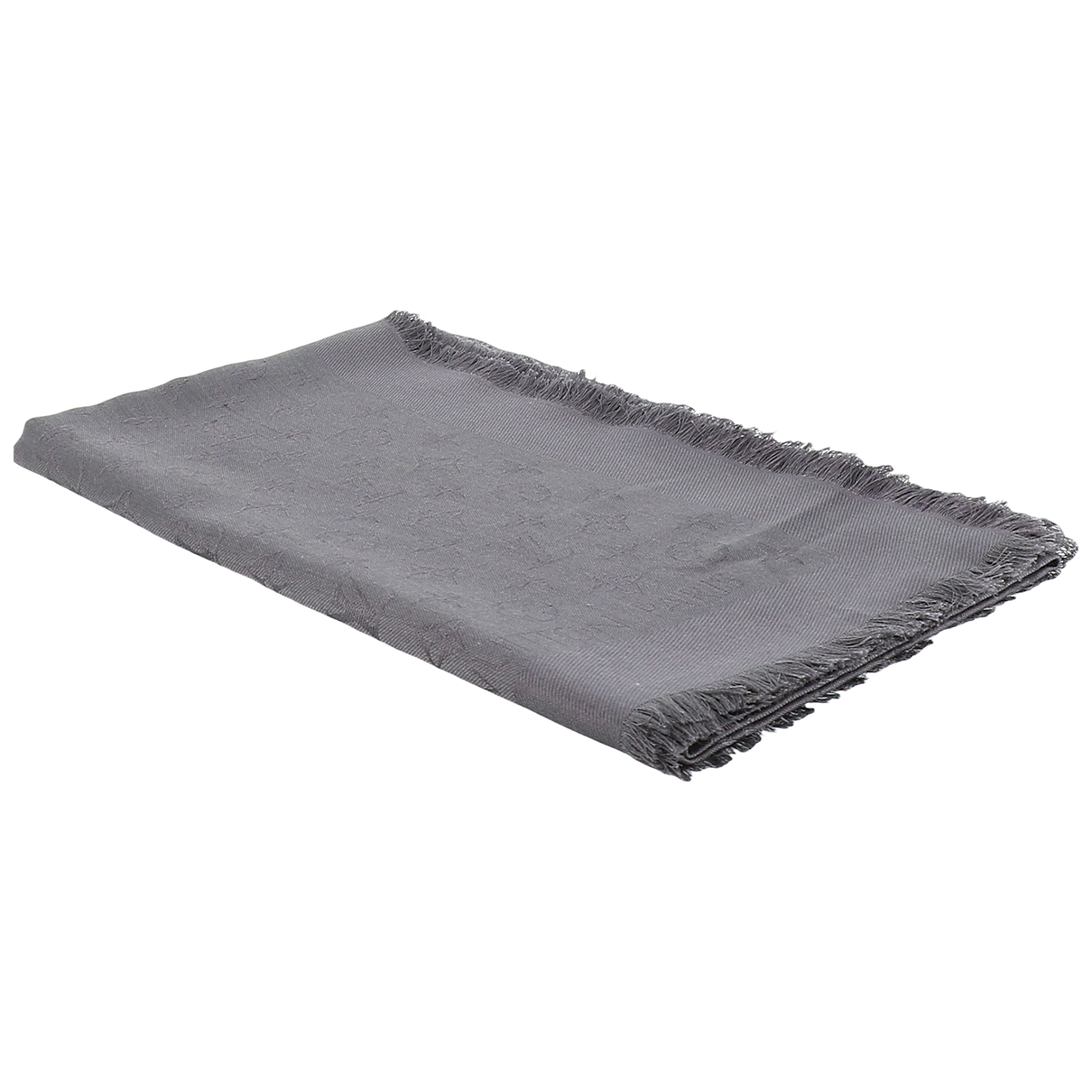Louis Vuitton Chle Monogram Anthracite Wool scarf for Women \N