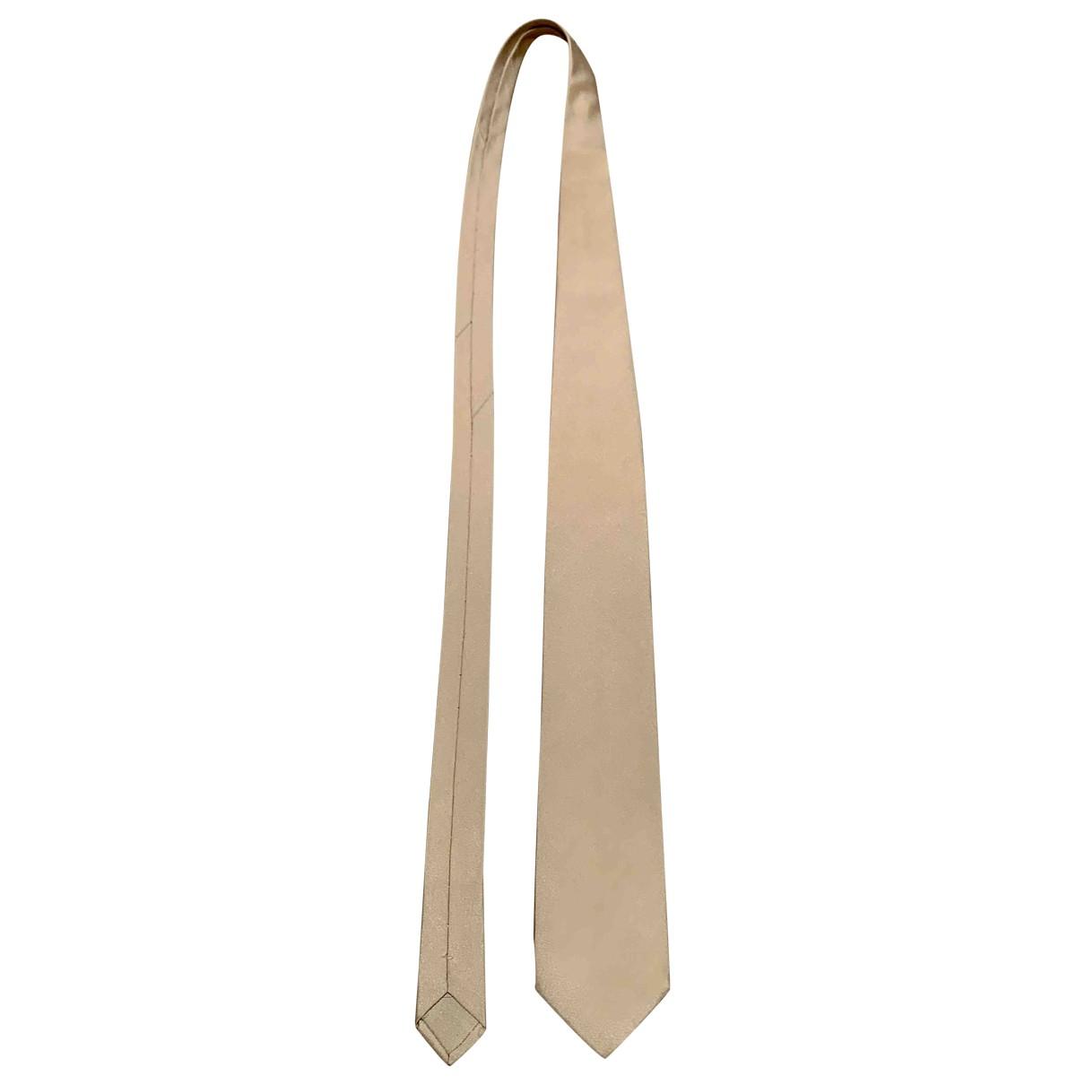 Brioni \N Beige Silk Ties for Men \N