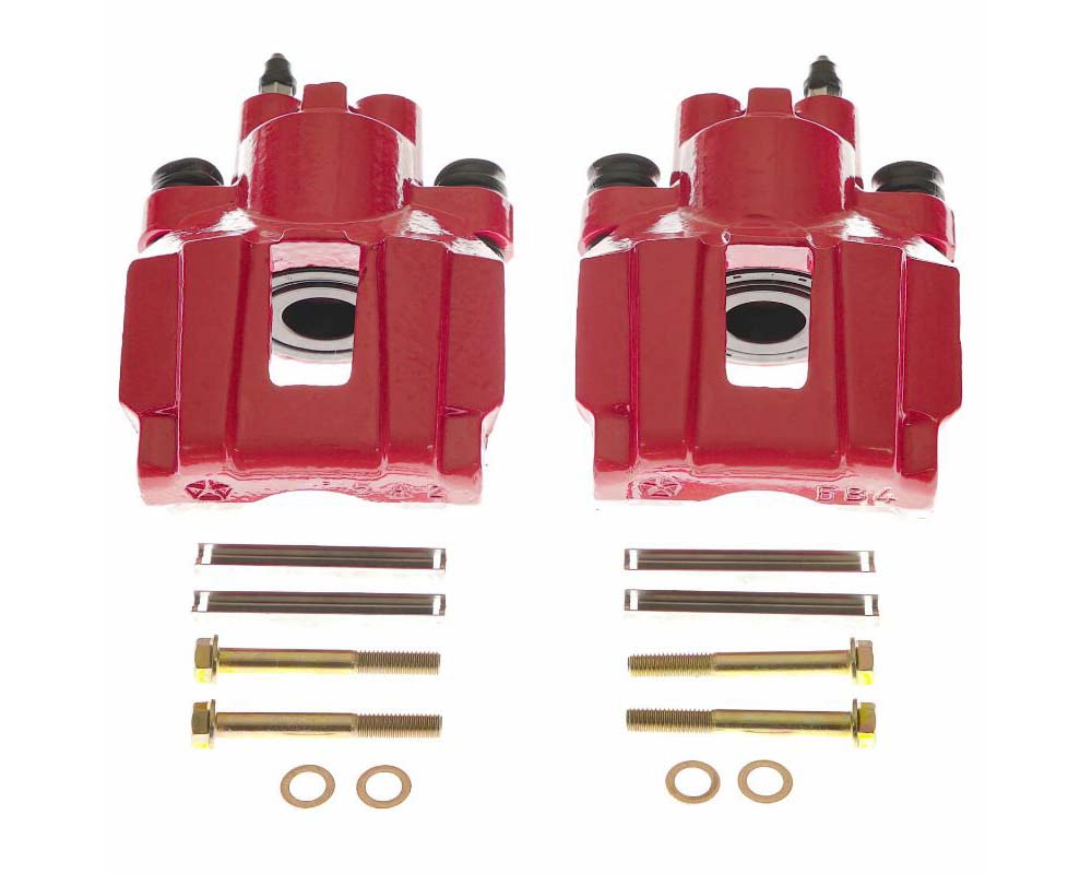 Power Stop S4914 Red Calipers - Pair Rear Chrysler Pacifica 2004-2008