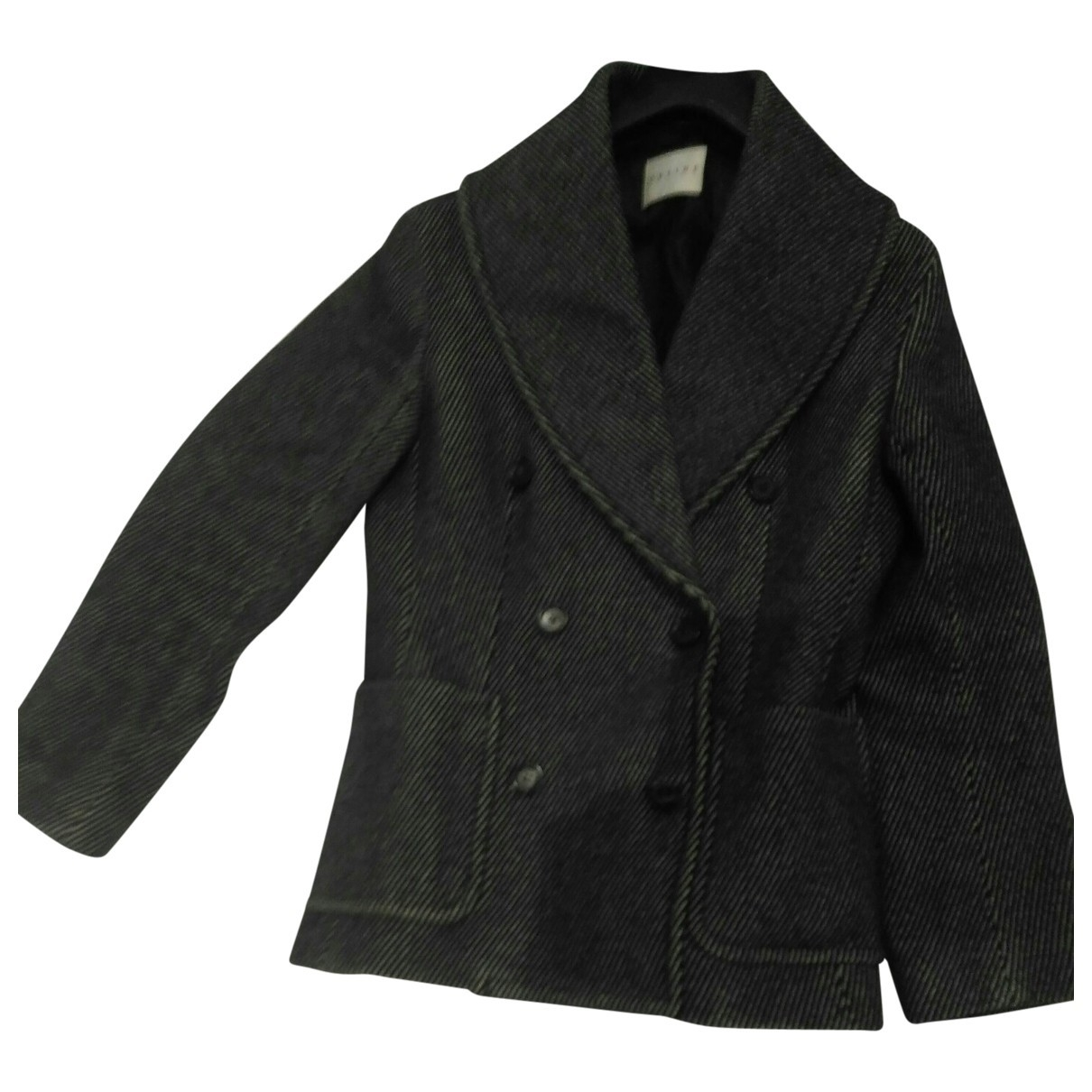Celine \N Black Wool jacket for Women 38 FR