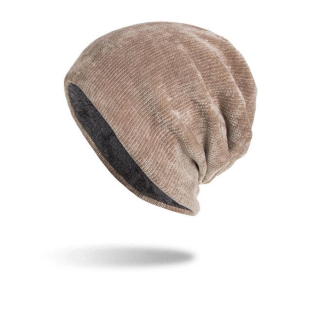 Men's Women's Corduroy Caps Knit Hat Beanie Hats