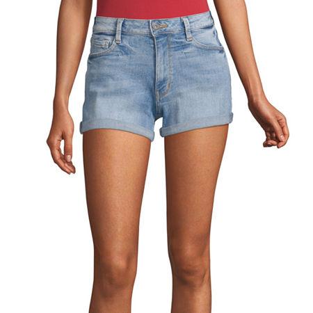 Arizona Womens Shortie Short-Juniors, 9 , Blue