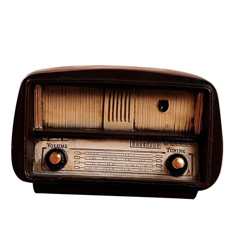 Vintage Radio Model Set Industrial Style Dress Shop Bar Window House Decoration Display