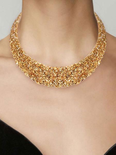 Milanoo Jewelry Sets Yellow Resin Pierced 2-Piece Geometric Jewelry Set
