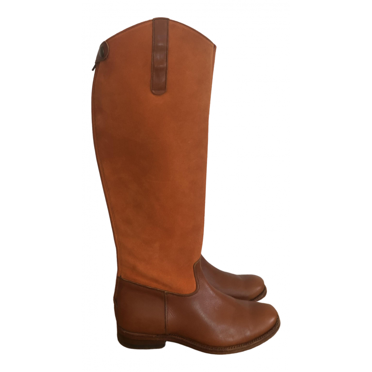Non Signé / Unsigned \N Brown Leather Boots for Women 34 EU