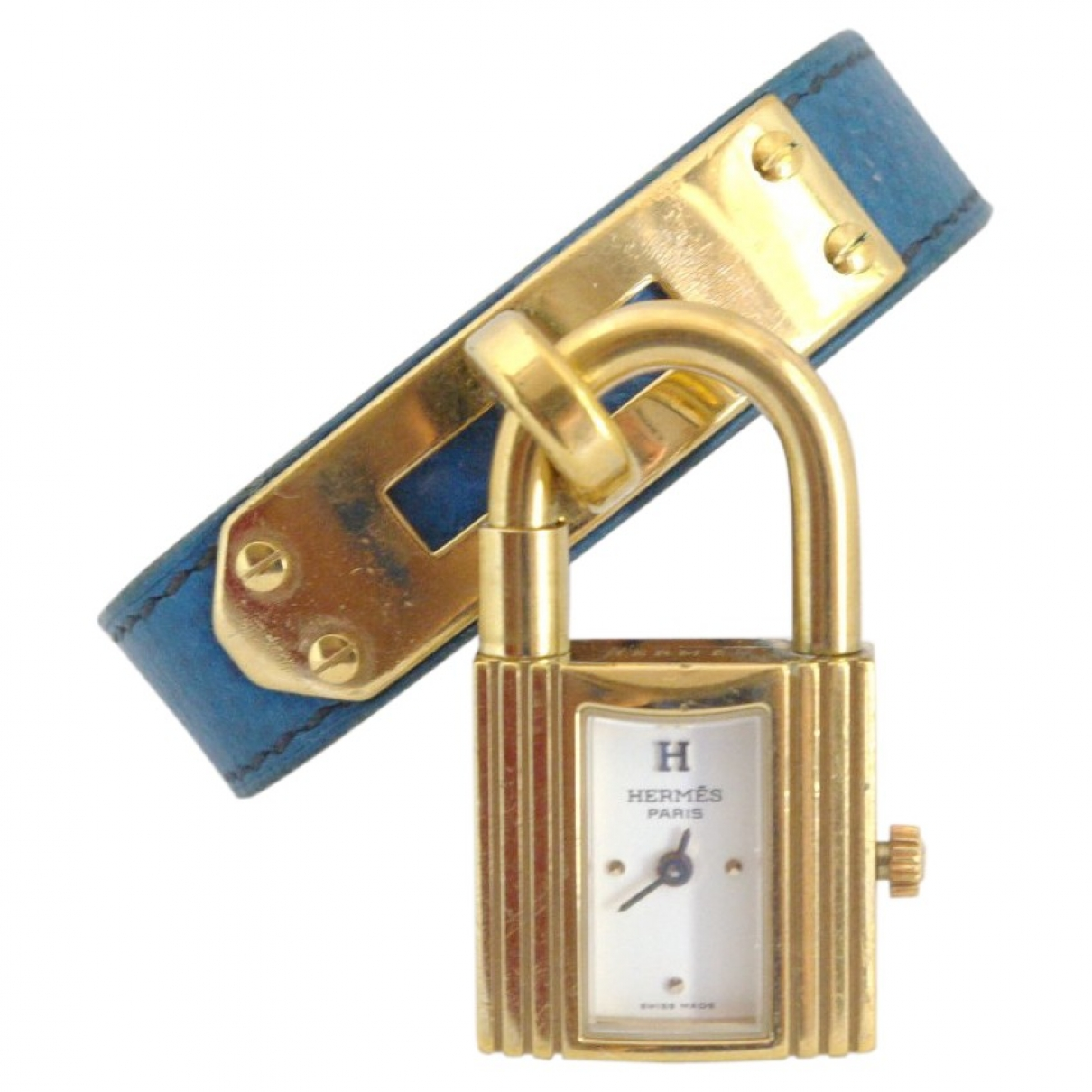 Hermès Kelly Blue Gold plated watch for Women \N