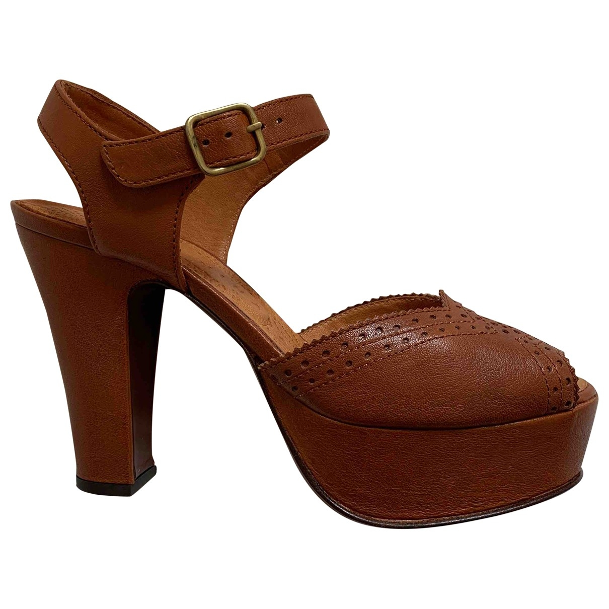 Chie Mihara \N Brown Leather Sandals for Women 38.5 EU