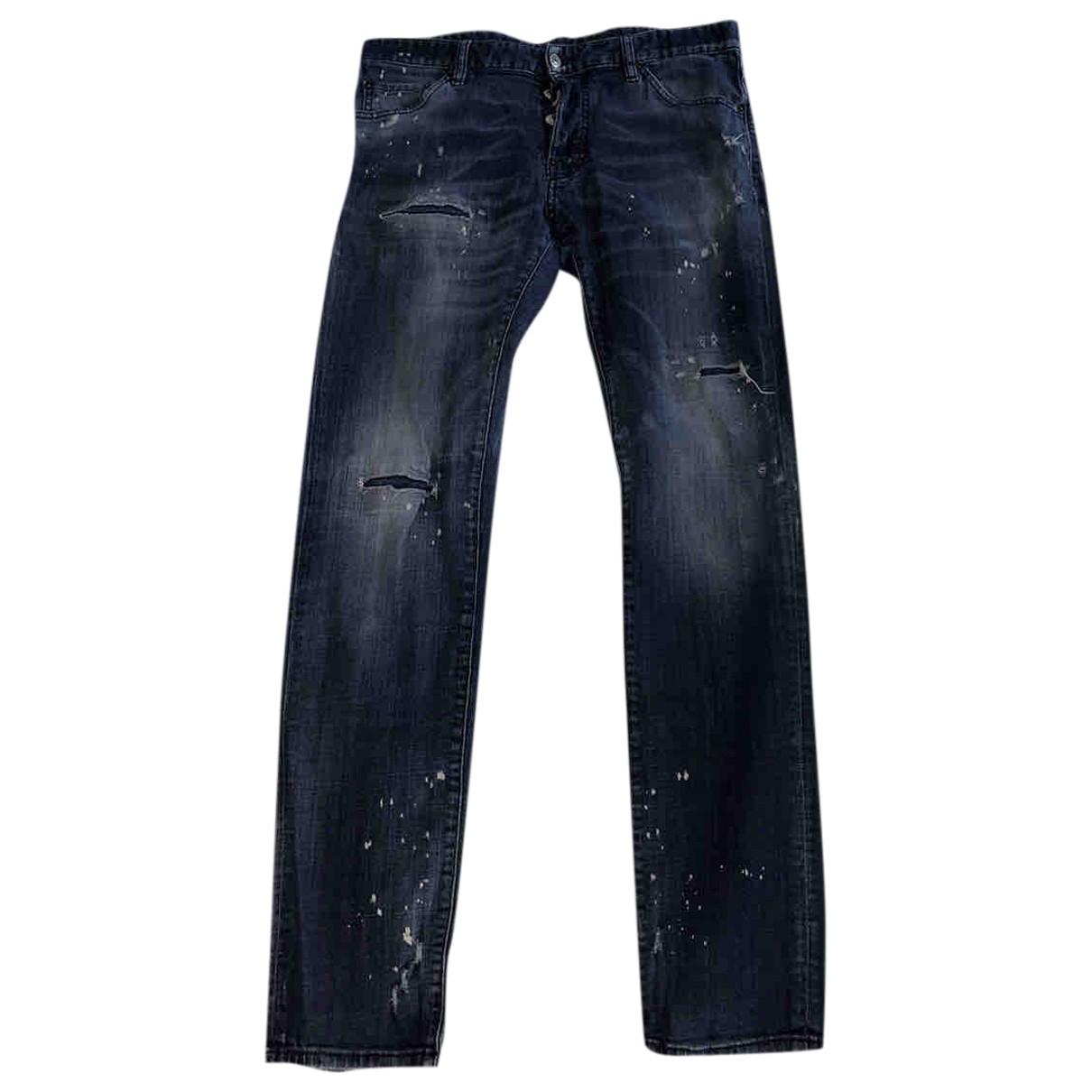 Dsquared2 \N Blue Cotton - elasthane Jeans for Men 33 US