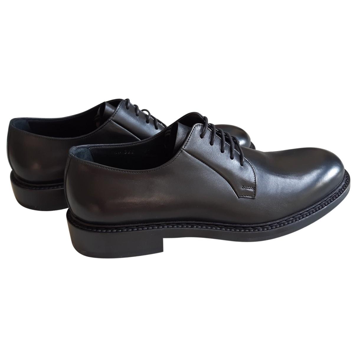 Giorgio Armani \N Black Leather Lace ups for Men 43 EU
