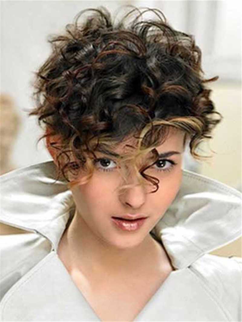 Ericdress Hot Short Curly Synthetic Hair Capless Wigs 8 Inches