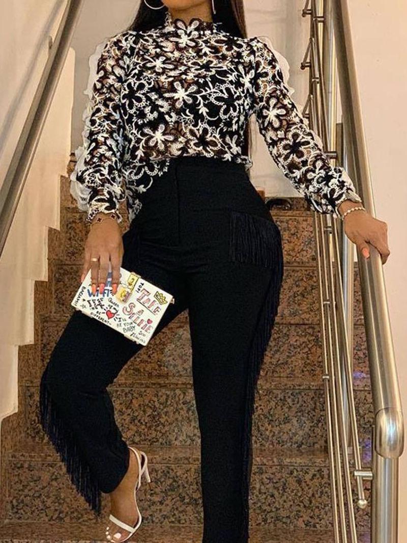 Ericdress Women's Standard Long Sleeve Slim Blouse