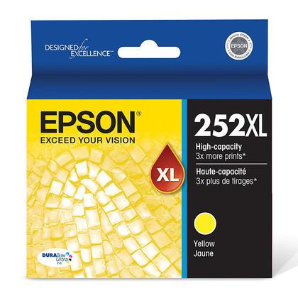 Epson 252XL T252XL420 cartouche d'encre originale jaune haute capacité