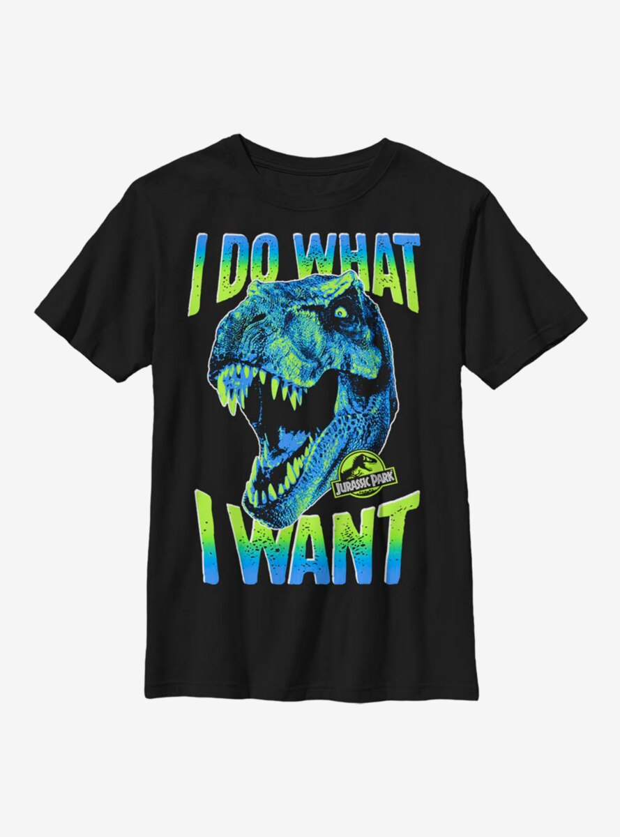 Jurassic Park What I Want Youth T-Shirt