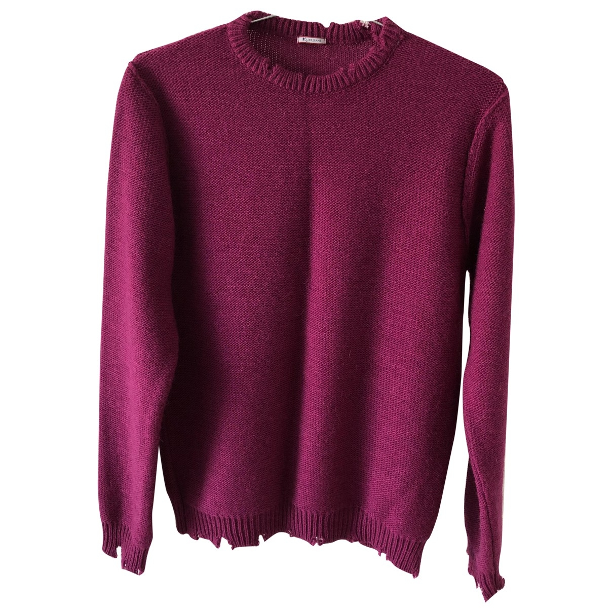 Non Signé / Unsigned \N Purple Wool Knitwear & Sweatshirts for Men M International