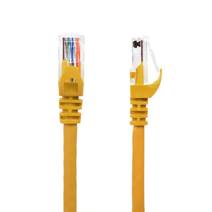 10FT Cat6 550MHz UTP 24AWG RJ45 Ethernet Network Cable - PrimeCables® - Yellow
