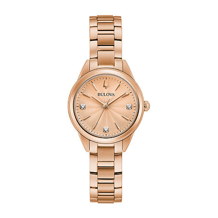 Bulova Sutton Womens Rose Goldtone Stainless Steel Bracelet Watch-97p151, One Size , No Color Family