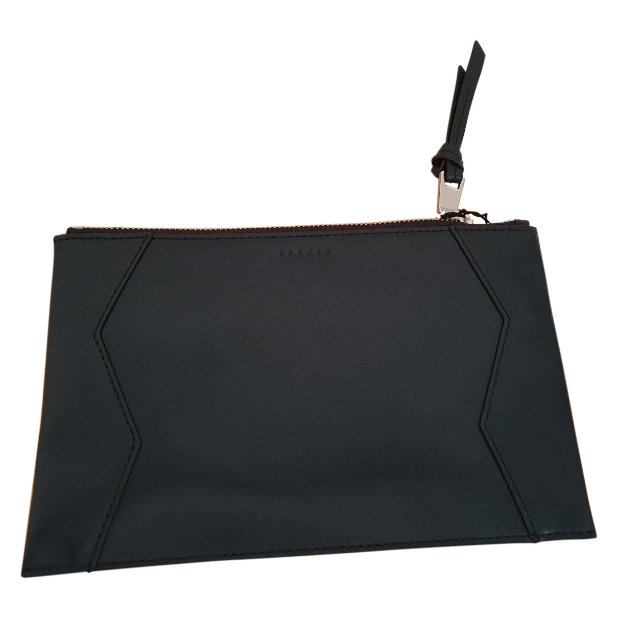 Sandro \N Navy Leather Clutch bag for Women \N