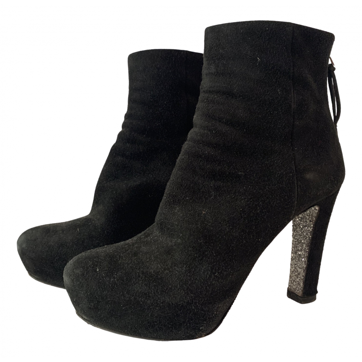 Miu Miu \N Black Suede Ankle boots for Women 37.5 EU